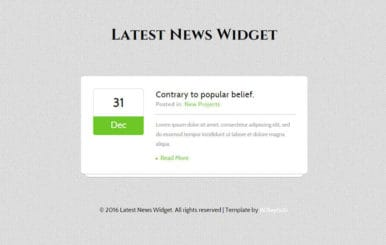 Latest News Responsive Widget Template