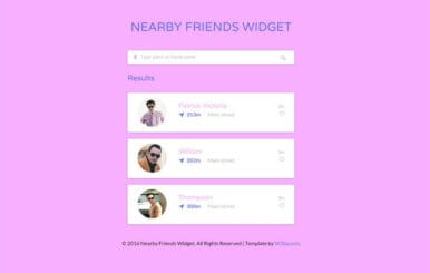 Nearby Friends Responsive Widget Template