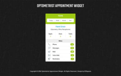 Optometrist Appointment Widget Responsive Template