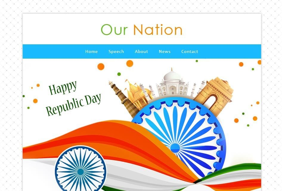 Our Nation a Newsletter Responsive Web Template