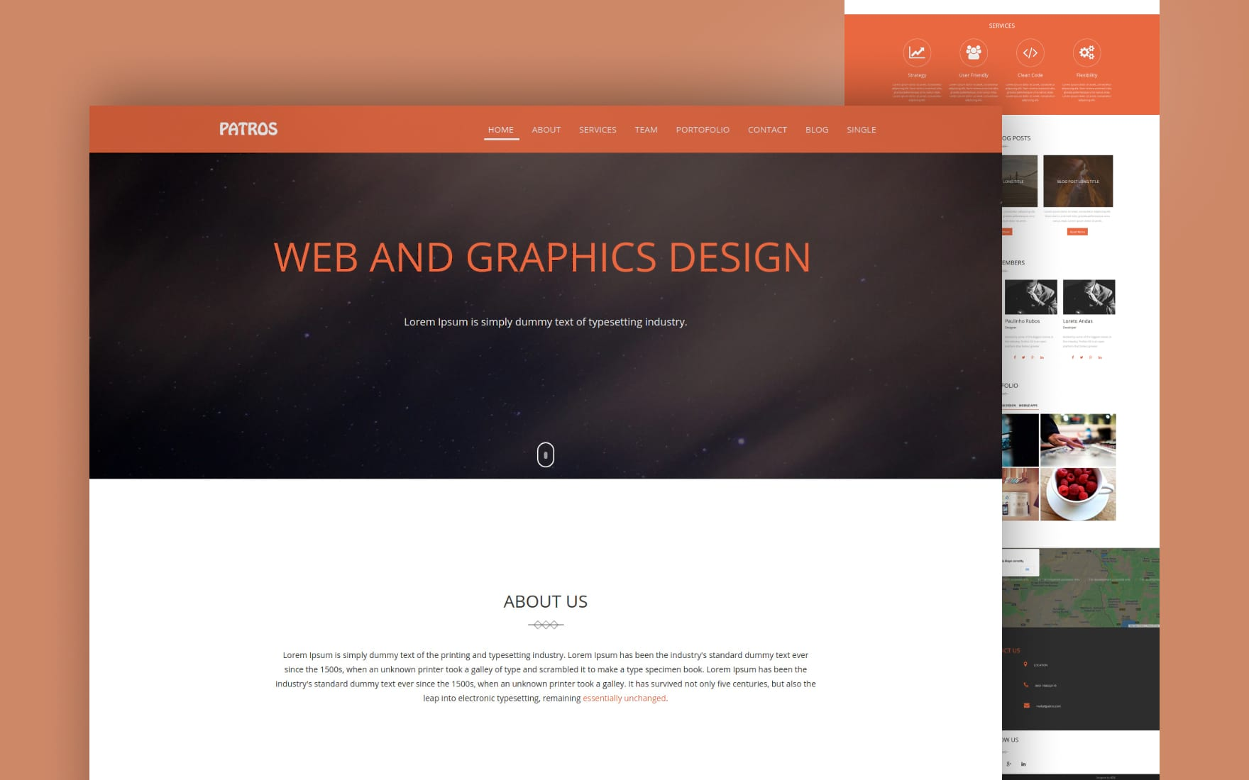 patros website template