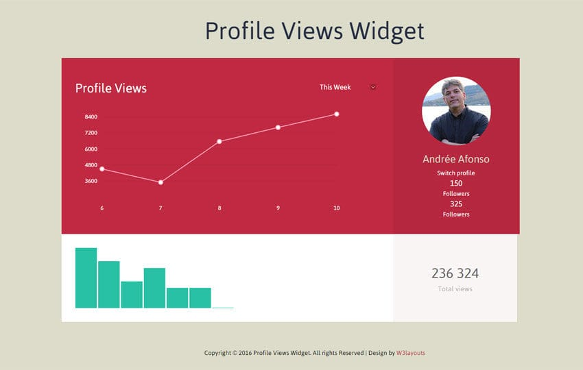 Profile Views Widget Responsive Template