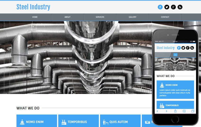 Steel Industry a Industrial Category Flat Bootstrap Responsive Web Template