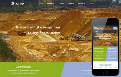 Stone a Industrial Flat Bootstrap Responsive Web Template