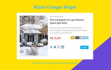 Winter Cottages Widget Responsive Template