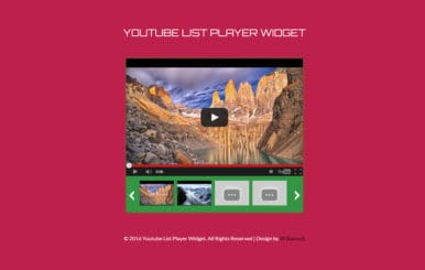 Youtube List Player Responsive Widget Template