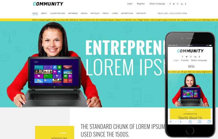 Community A Corporate Multipurpose Responsive Web Template