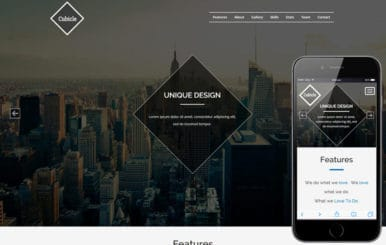 Cubicle a Corporate Business Category Responsive Website Template