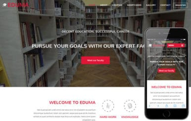 Eduma a Video Background Education Bootstrap Responsive Web Template