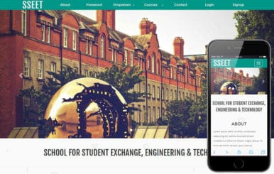 Exchange Education a Education category Responsive Web Template
