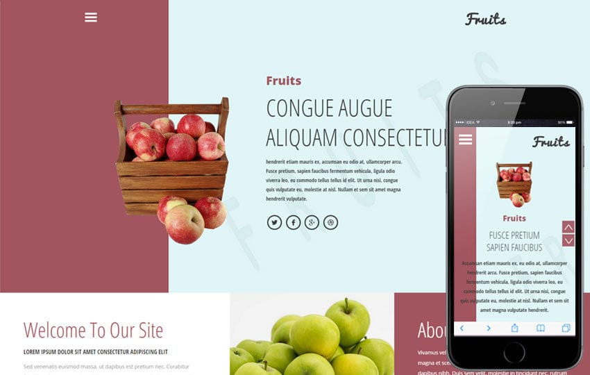 Fruits a Agriculture Category Flat Bootstrap Responsive Web Template