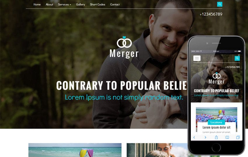 Merger A Wedding Category Flat Bootstrap Responsive Web Template