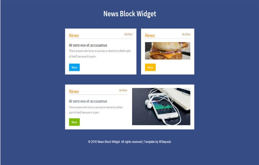 News Block Responsive Widget Template