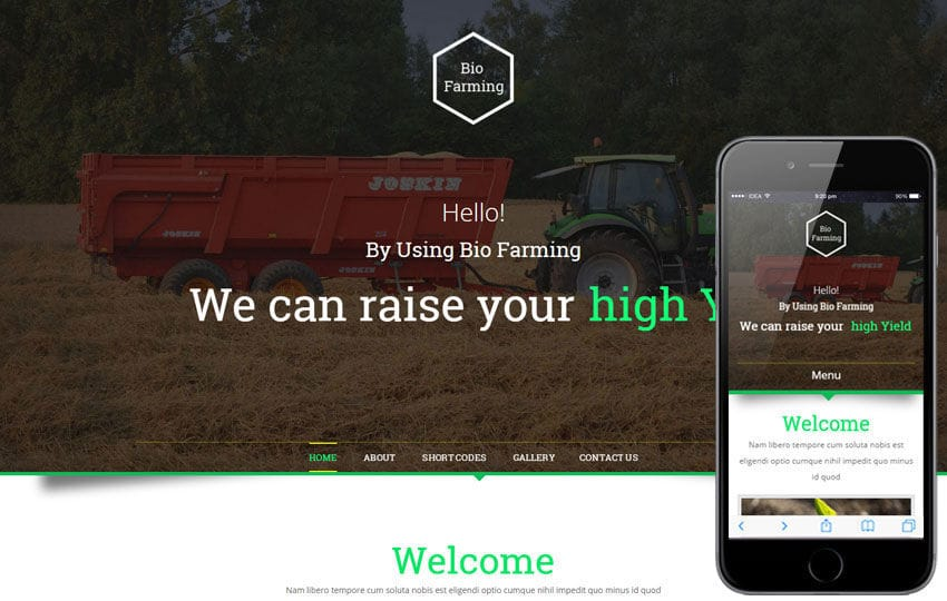 Bio Farming An Agriculture Category Flat Bootstrap Responsive web Template