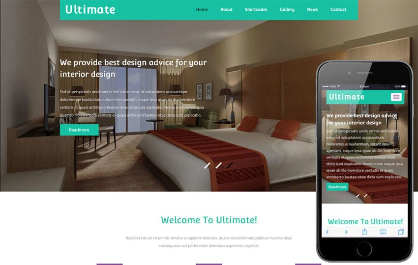 Ultimate a Interior Architect Flat Bootstrap Responsive Web Template