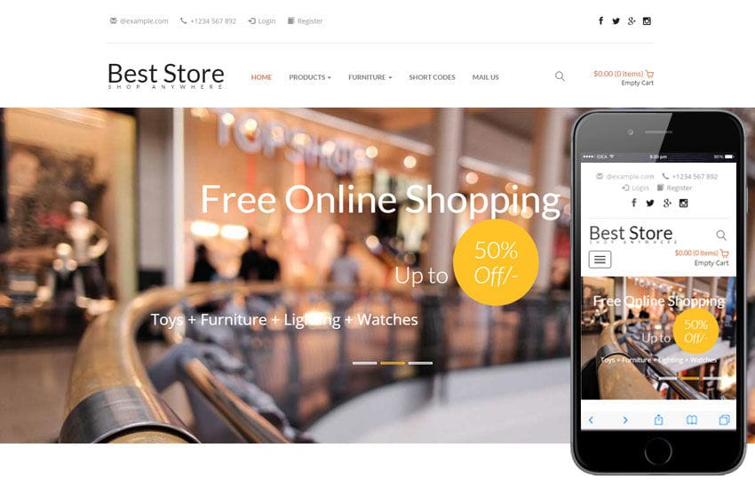 Best Store a E commerce Category Responsive Web Template
