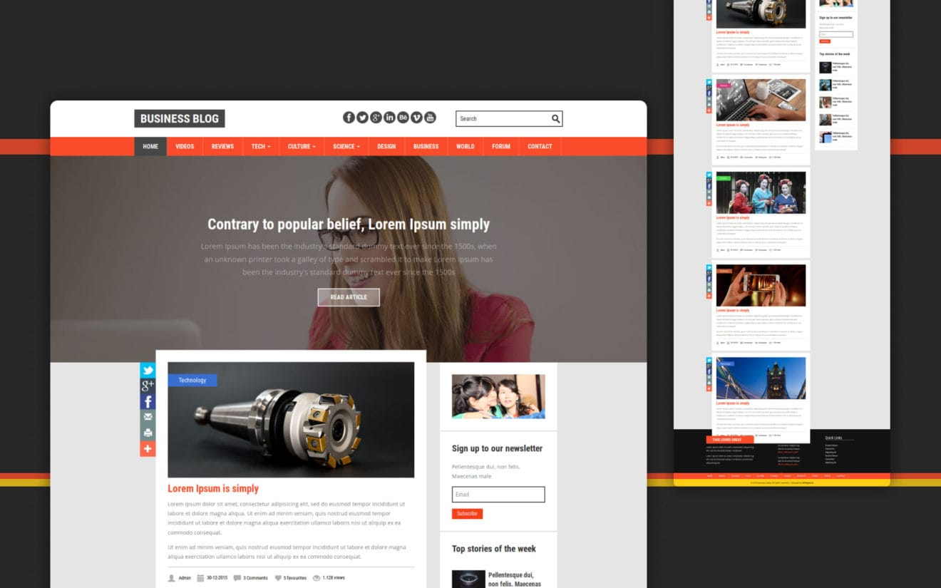 Business Blog a Blogging Category Flat Bootstrap Responsive Web Template