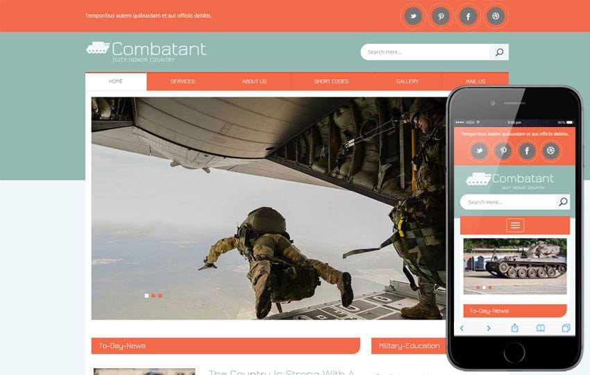 Combatant a People and Society Flat Bootstrap Responsive Template