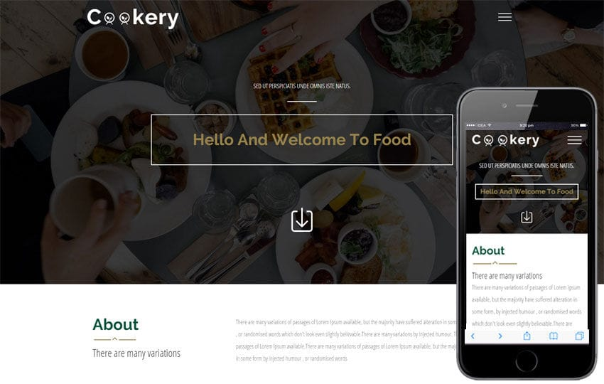 Cookery A Food Category Flat Bootstrap Responsive Web Template