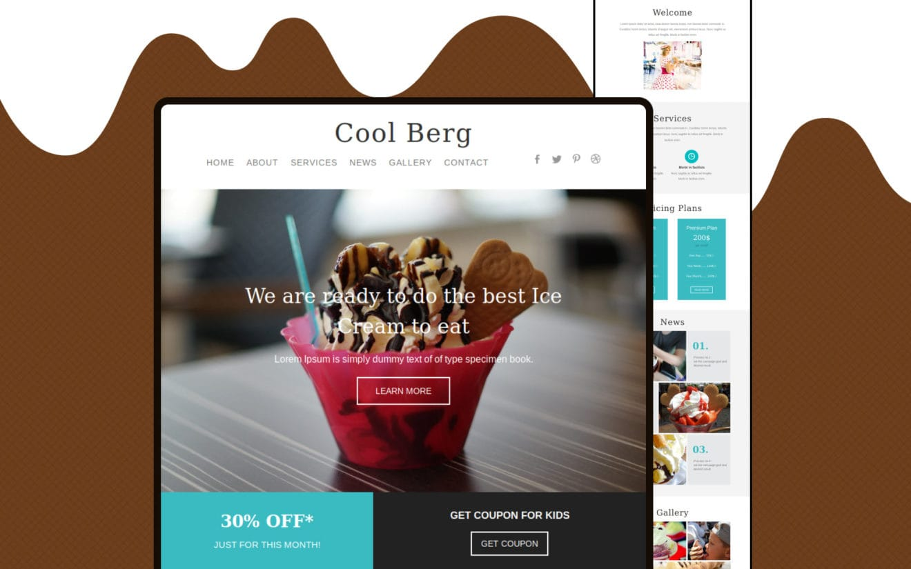 Cool Berg a Newsletter Responsive Web Template