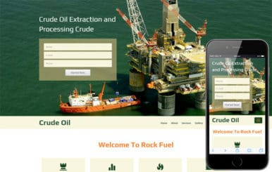 Crude Oil  A Industrial  Flat bootstrap Responsive web Template