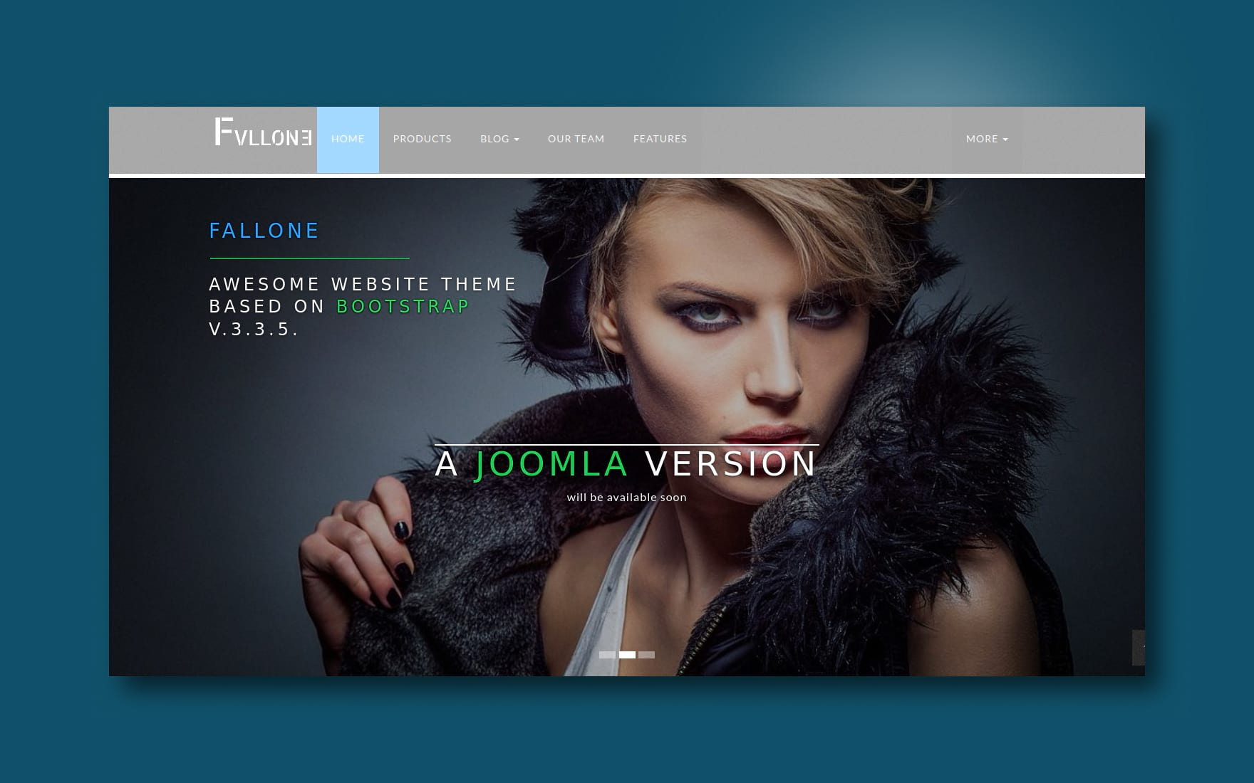 fallone website template