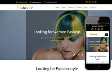Fashioner a Fashion Category Responsive Web Template