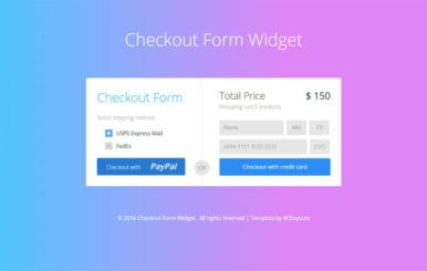 Check Out Form Flat Bootstrap Responsive widget Template