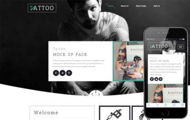 Tattoo a Fashion Category Responsive Web Template