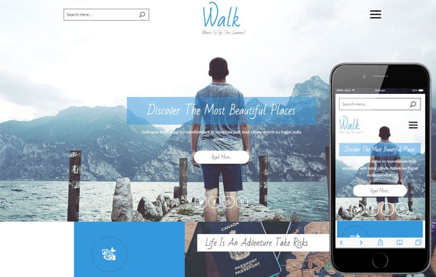 Walk a Travel Agency flat Bootstrap responsive web template