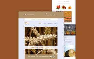 Bio Products a Email Responsive Web Template
