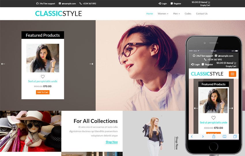 Classic Style a E commerce Flat Bootstrap Responsive Web Template