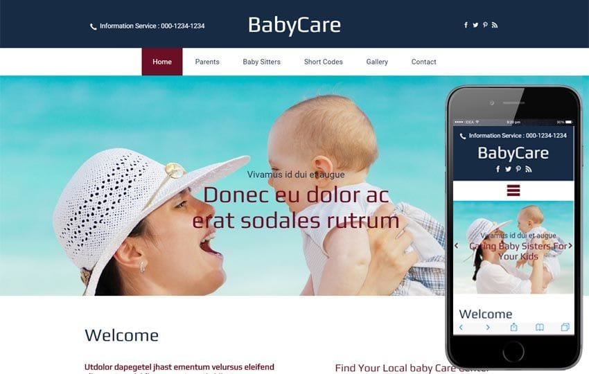 Baby Care a Society and People Bootstrap responsive Web Template
