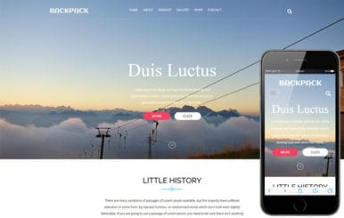 Backpack a travel category Flat Bootstrap Responsive Web Template