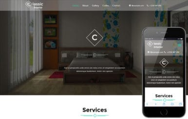 Classic Interior A Interior Category Flat Bootstrap Responsive Web Template
