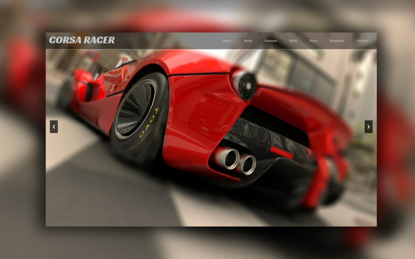 Corsa Racer a Gaming Category Flat Bootstrap Responsive Web Template
