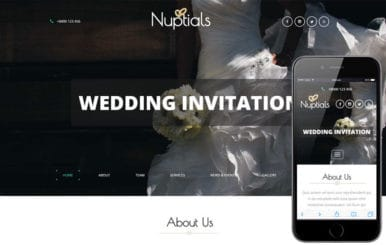 Nuptials a Wedding Category Flat Bootstrap Responsive Web Template