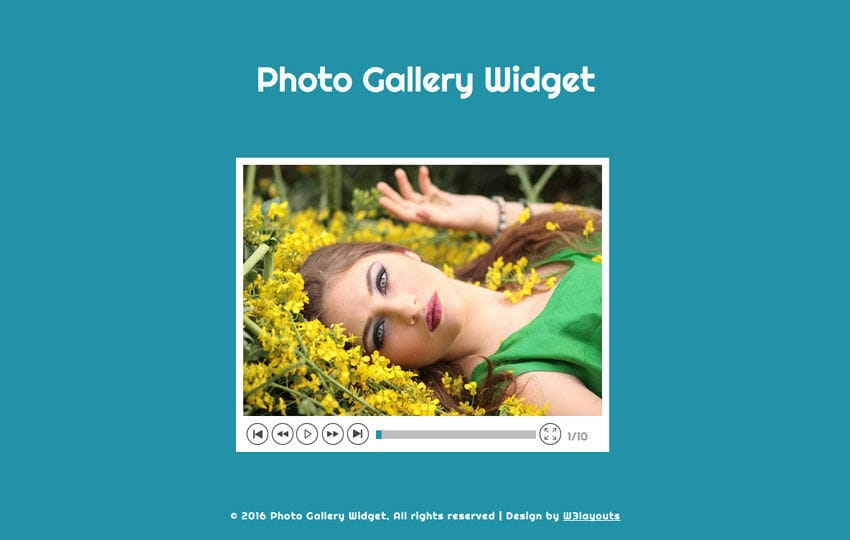 Photo Gallery Widget Responsive Widget Template