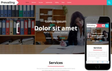 Prevailing A Corporate Category Flat Bootstrap Responsive Web Template