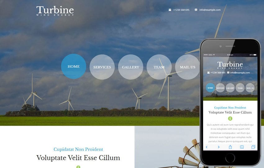 Turbine a Industrial Flat Bootstrap Responsive Web Template