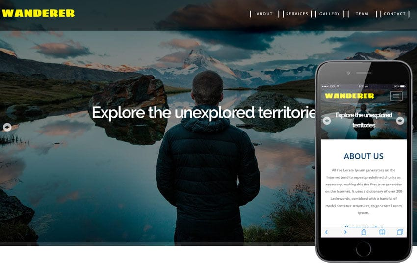 Wanderer a Travel Category Flat Bootstrap Responsive Web Template