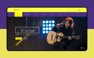 Warbler a Music Category Flat Bootstrap Responsive Web Template
