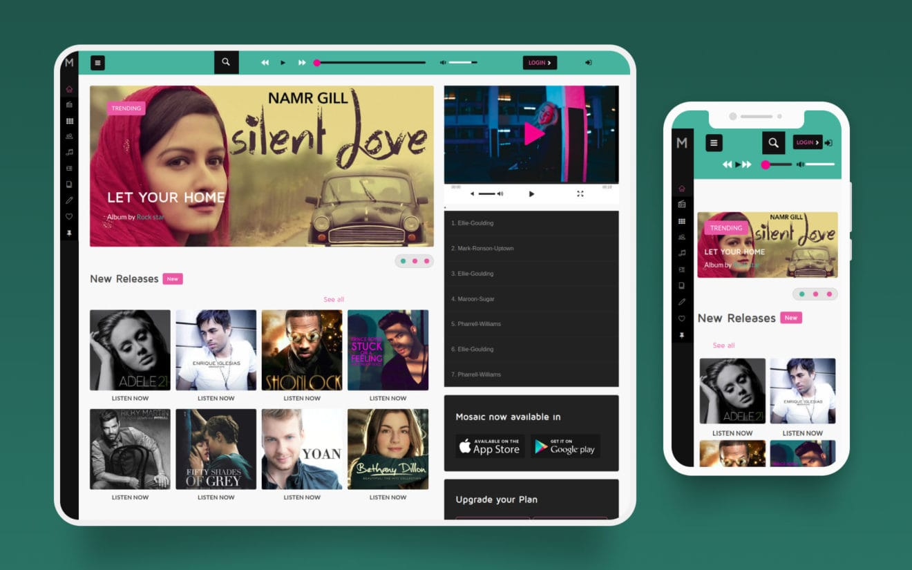 Mosaic – Entertainment Web Template