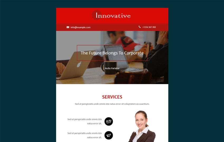 Innovative a News Letter Category Template