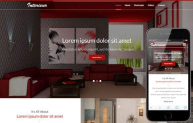 Interieur a Interior Category Flat Bootstrap Responsive  Web Template