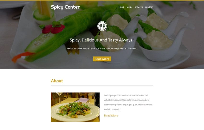 Spicy Center a News Letter Template