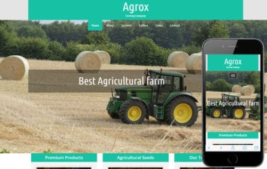 Agrox a Agriculture Category Responsive Web Template