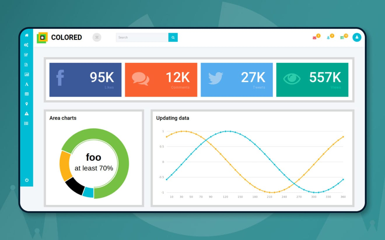 Colored an Admin Panel Category Flat Bootstrap Responsive Web Template