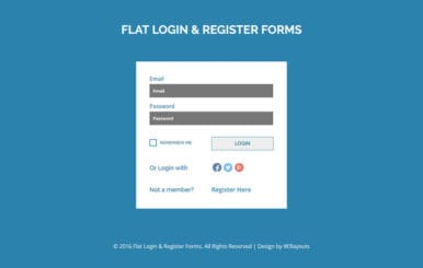 Flat Login And Register Forms A Flat Responsive Widget Template
