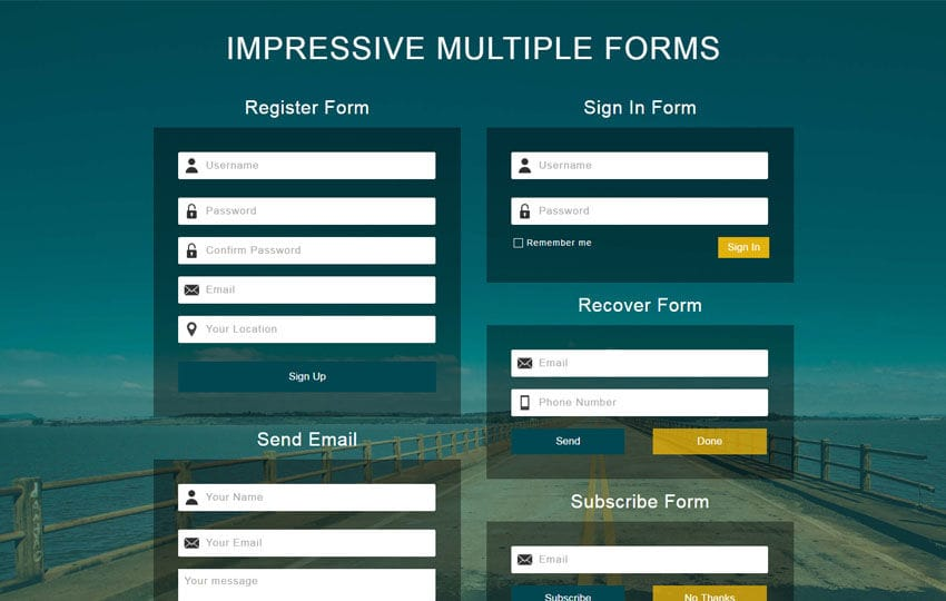 Impressive Multiple Forms a Flat Responsive Widget Template